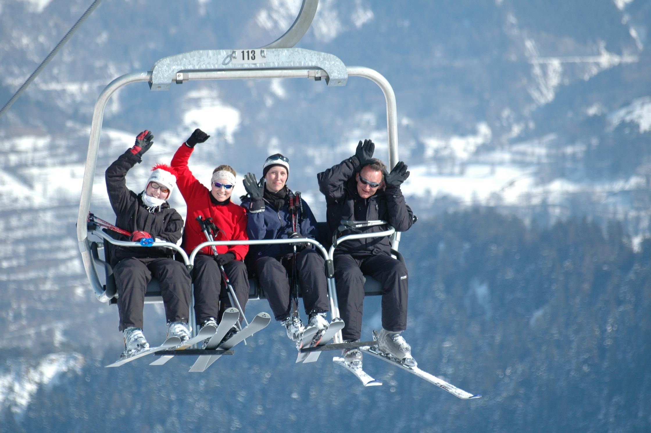 Klar til dagens skiløb